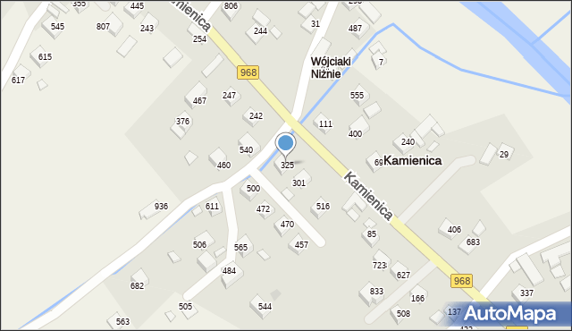 Kamienica, Kamienica, 325, mapa Kamienica