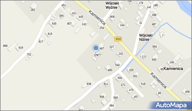 Kamienica, Kamienica, 376, mapa Kamienica