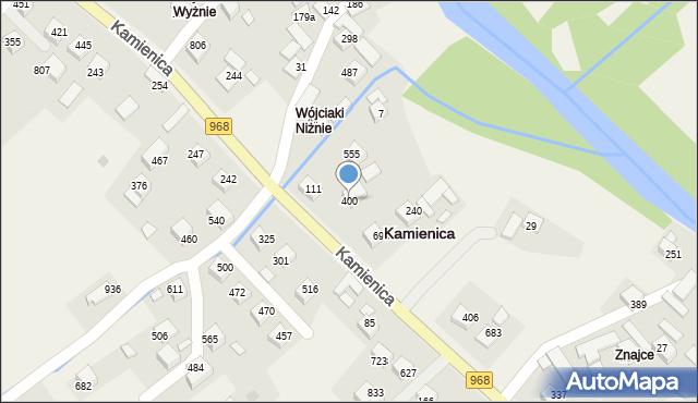 Kamienica, Kamienica, 400, mapa Kamienica