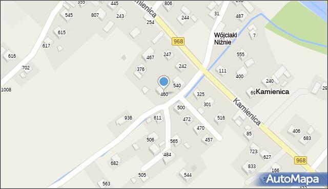 Kamienica, Kamienica, 460, mapa Kamienica