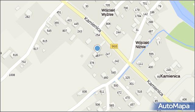 Kamienica, Kamienica, 467, mapa Kamienica