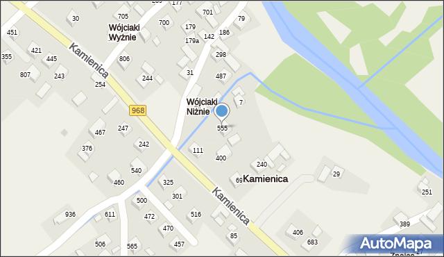 Kamienica, Kamienica, 555, mapa Kamienica