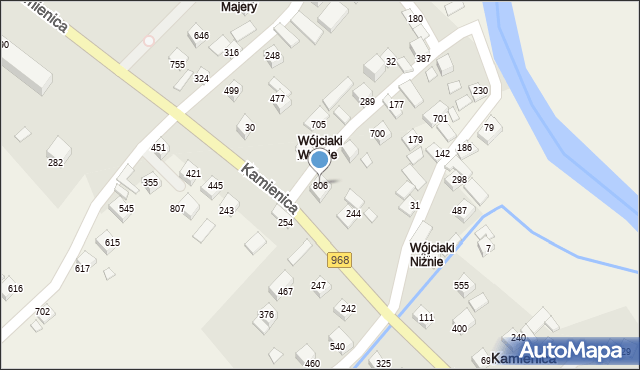 Kamienica, Kamienica, 806, mapa Kamienica