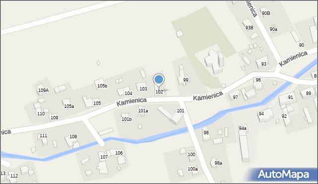 Kamienica, Kamienica, 102, mapa Kamienica