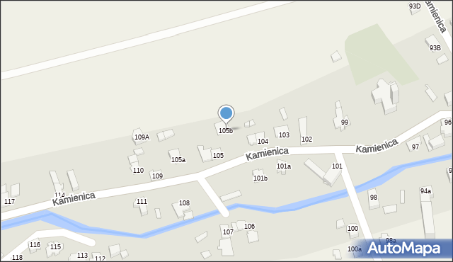 Kamienica, Kamienica, 105b, mapa Kamienica