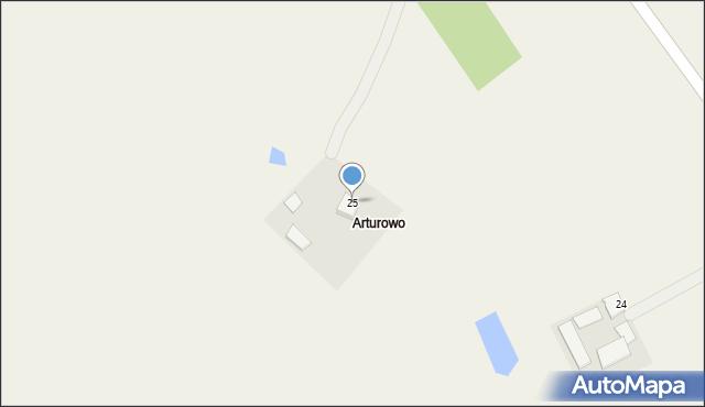 Kaniewo, Kaniewo, 25, mapa Kaniewo