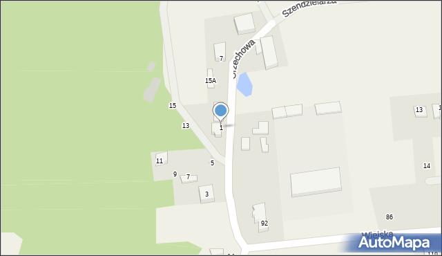 Kębłowo, Kasztanowa, 1, mapa Kębłowo