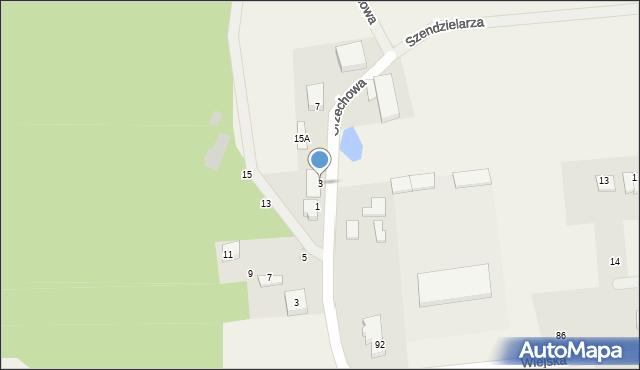 Kębłowo, Kasztanowa, 3, mapa Kębłowo