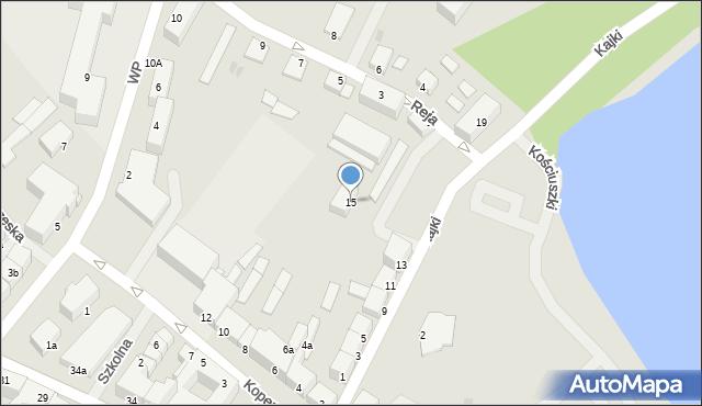 Kętrzyn, Kajki Michała, 15, mapa Kętrzyn