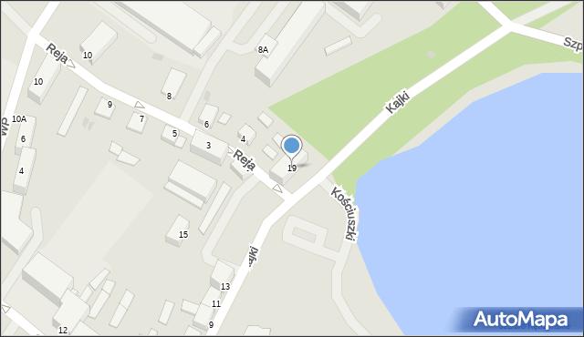 Kętrzyn, Kajki Michała, 19, mapa Kętrzyn