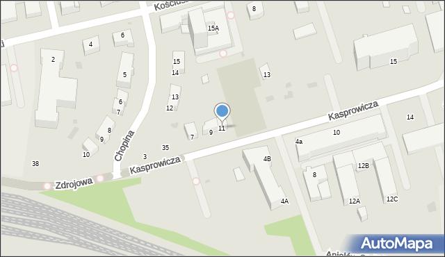Kołobrzeg, Kasprowicza Jana, 11, mapa Kołobrzegu