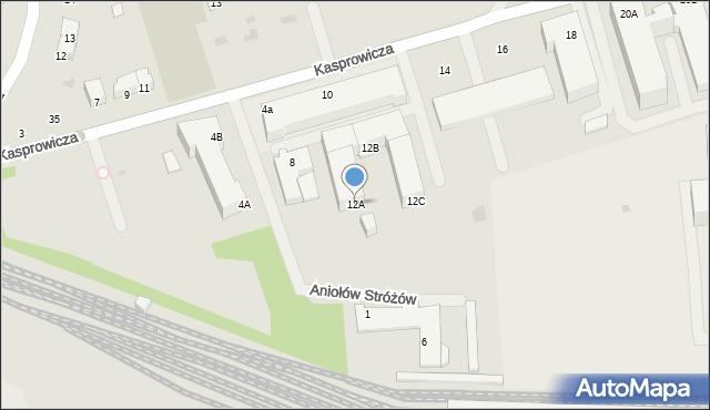Kołobrzeg, Kasprowicza Jana, 12A, mapa Kołobrzegu