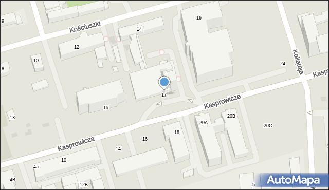 Kołobrzeg, Kasprowicza Jana, 17, mapa Kołobrzegu