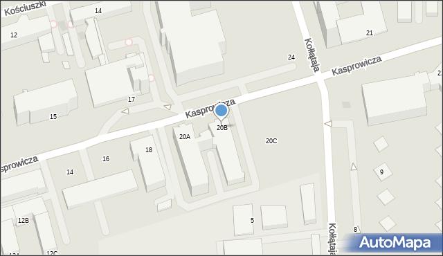 Kołobrzeg, Kasprowicza Jana, 20B, mapa Kołobrzegu