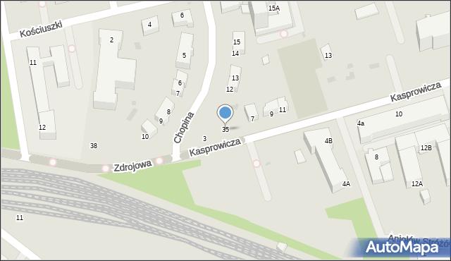 Kołobrzeg, Kasprowicza Jana, 35, mapa Kołobrzegu