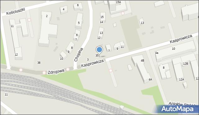 Kołobrzeg, Kasprowicza Jana, 5, mapa Kołobrzegu