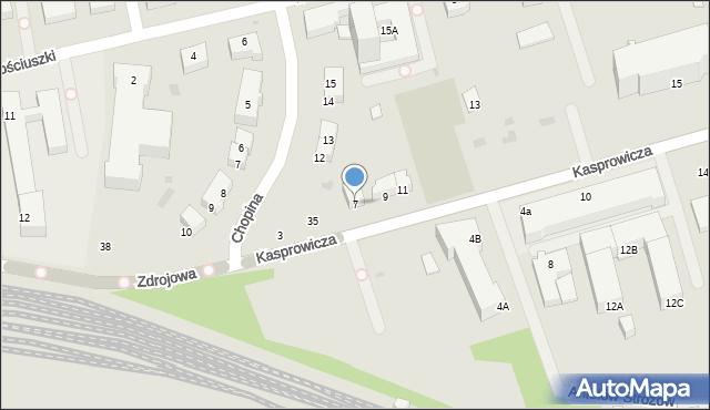 Kołobrzeg, Kasprowicza Jana, 7, mapa Kołobrzegu