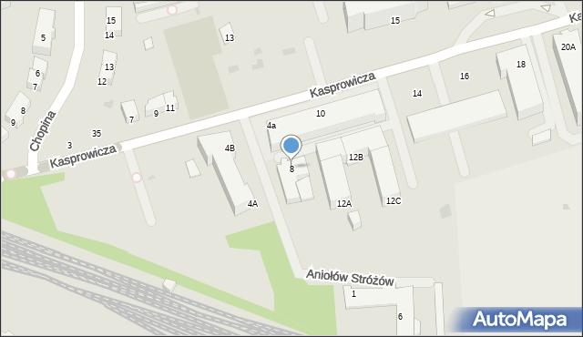 Kołobrzeg, Kasprowicza Jana, 8, mapa Kołobrzegu