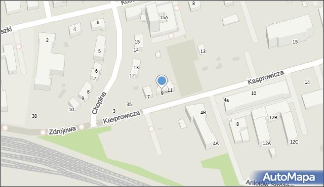 Kołobrzeg, Kasprowicza Jana, 9, mapa Kołobrzegu