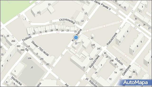 Kołobrzeg, Katedralna, 13, mapa Kołobrzegu