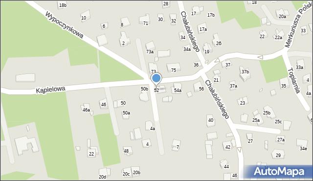 Kraków, Kąpielowa, 52, mapa Krakowa