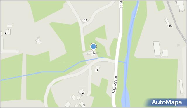 Limanowa, Kamienna, 12, mapa Limanowa