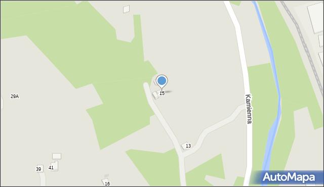 Limanowa, Kamienna, 15, mapa Limanowa