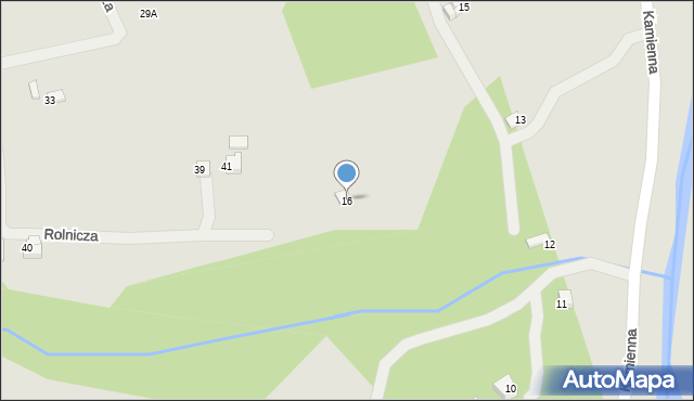 Limanowa, Kamienna, 16, mapa Limanowa