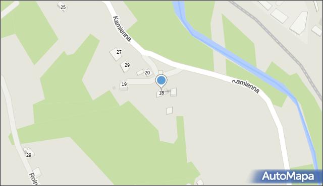 Limanowa, Kamienna, 18, mapa Limanowa