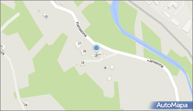 Limanowa, Kamienna, 20, mapa Limanowa
