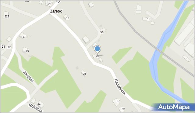 Limanowa, Kamienna, 26, mapa Limanowa