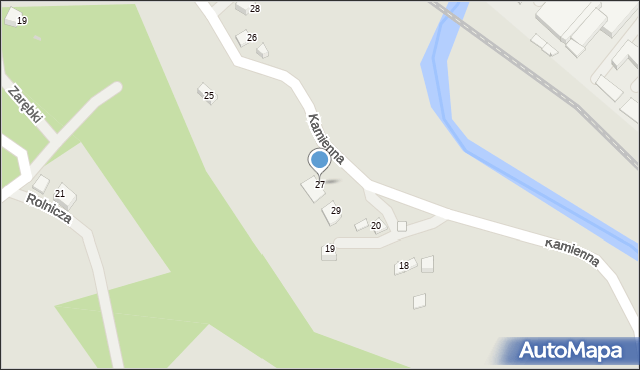 Limanowa, Kamienna, 27, mapa Limanowa