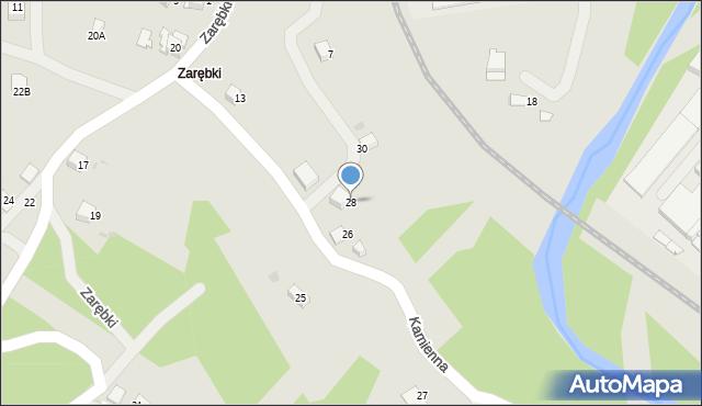 Limanowa, Kamienna, 28, mapa Limanowa
