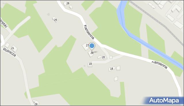 Limanowa, Kamienna, 29, mapa Limanowa