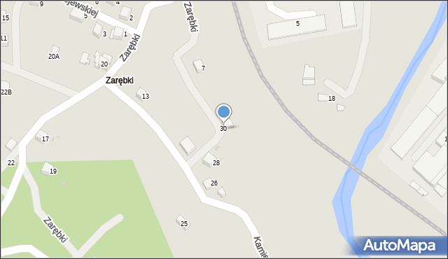 Limanowa, Kamienna, 30, mapa Limanowa