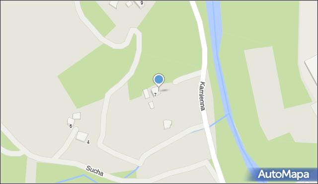 Limanowa, Kamienna, 8, mapa Limanowa