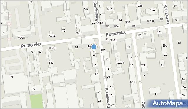 Łódź, Kamińskiego Aleksandra, hm., 13, mapa Łodzi