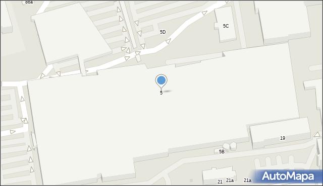 Łódź, Karskiego Jana, 5, mapa Łodzi