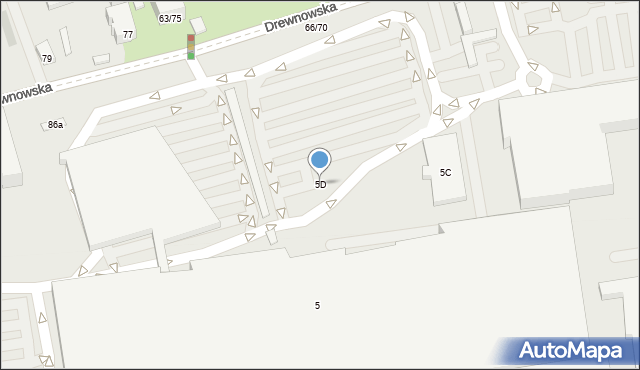 Łódź, Karskiego Jana, 5D, mapa Łodzi
