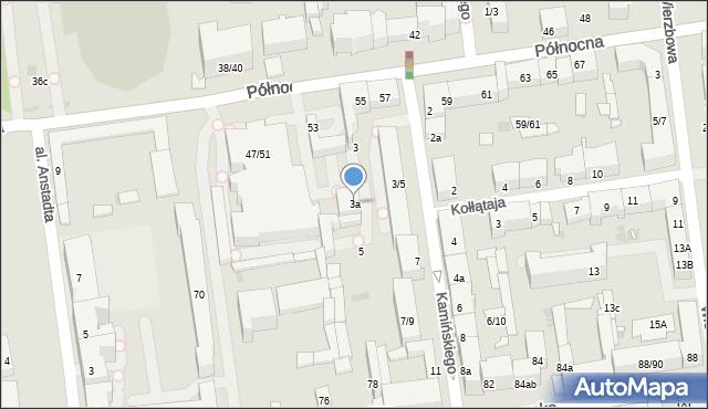 Łódź, Kamińskiego Aleksandra, hm., 3a, mapa Łodzi