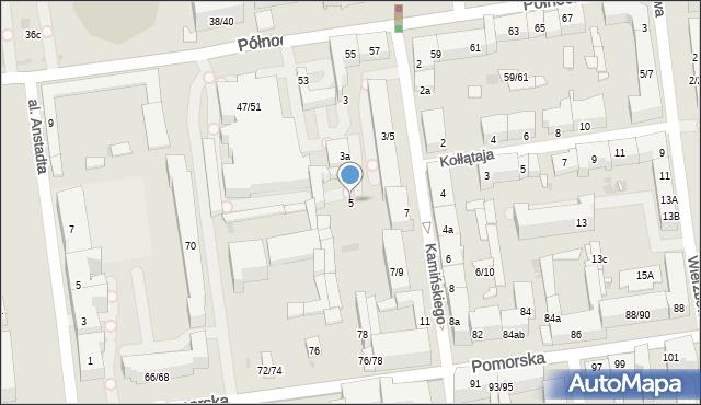 Łódź, Kamińskiego Aleksandra, hm., 5, mapa Łodzi