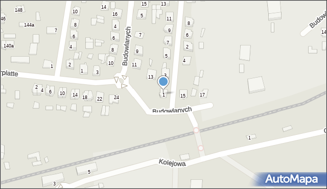 Lubaczów, Kasztanowa, 1, mapa Lubaczów