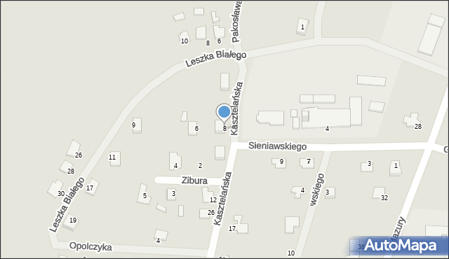 Lubaczów, Kasztelańska, 8, mapa Lubaczów