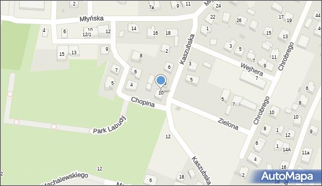Luzino, Kaszubska, 10, mapa Luzino