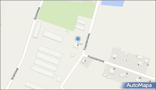 Nidek, Kasztanowa, 4, mapa Nidek