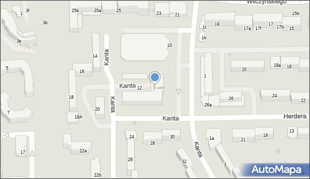 Olsztyn, Kanta Immanuela, 12, mapa Olsztyna