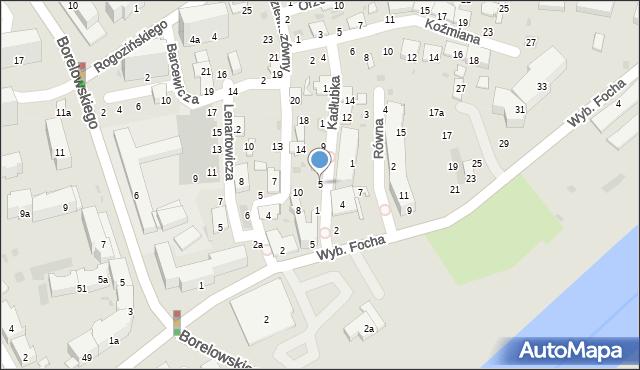 Przemyśl, Kadłubka Wincentego, bp., 5, mapa Przemyśla