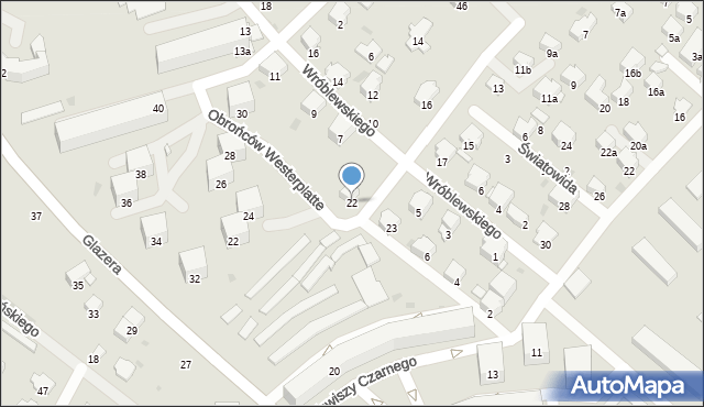 Przemyśl, Karaszewicza-Tokarzewskiego Michała, gen., 22, mapa Przemyśla