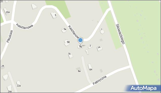 Przemyśl, Kasztanowa, 5g, mapa Przemyśla