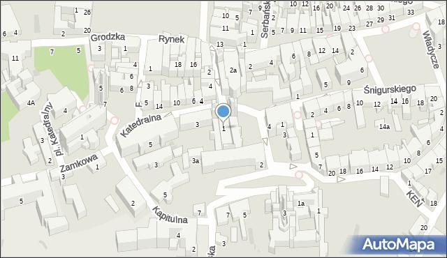 Przemyśl, Katedralna, 1, mapa Przemyśla